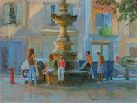 Howe St. Remy Fountain pastel