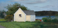 Kassel Yellow Shed, Maine oil