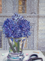 Kassel Hyacinths in April Snow oil