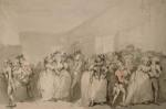 Rowlandson Box-Lobby Loungers drawing