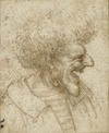 Leonardo Da Vinci drawing, Caricature of a Man With Bushy Hair