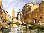 Sargent Venetian Canal watercolor