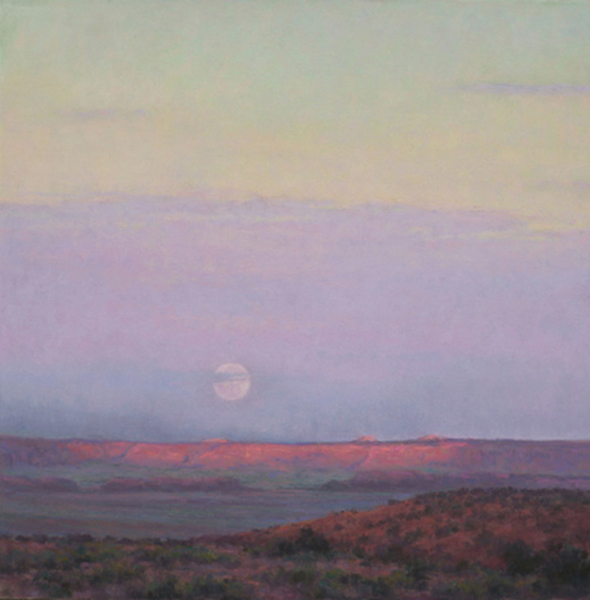 Moonrise by Denise LaRue Mahlke, pastel drawing.