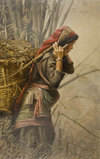 Marcuson Nepali Woman With Basket oil