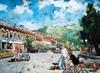 Turner Street Scene in Buena Vista watercolor