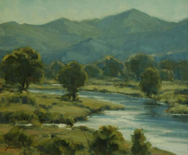 oil painting dan young s harmony and depth in landscapes artists