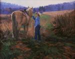 Gardner Boy With Horse oil