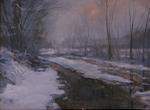 Gardner Snow Scene oil
