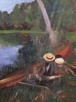 Gardner The Pond Painting oil