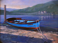 Gardner Boat by the Shore oil