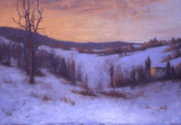 Sanders Winter Sunset oil