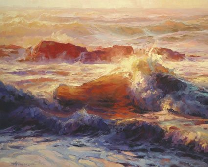 Galleries are awash with unsolicited requests from artists who want to be represented. Your time is precious, and it's not worth sending out mass e-mailings that will be lost in the waters. Opalescent Sea by Steve Henderson of  Steve Henderson Fine Art.
