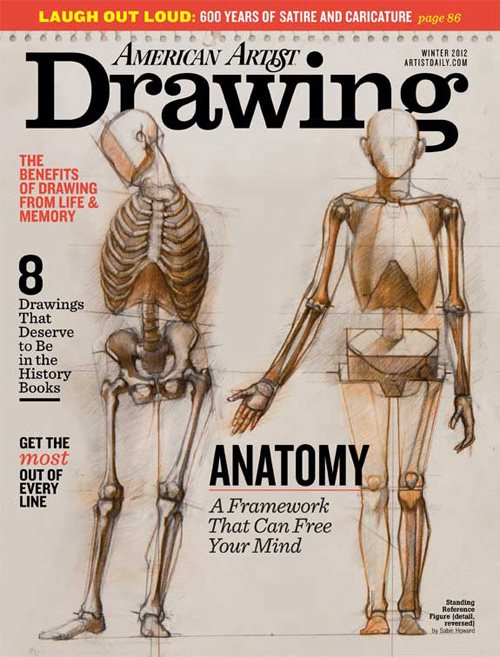Drawing magazine, Winter 2012 cover.