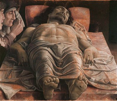 The Dead Christ by Andrea Mantegna, 1460, tempera on canvas.