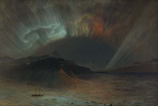 Frederic Edwin Church's Aurora Borealis would make a stunning holiday card.