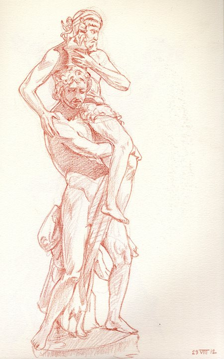 After Bernini, Aeneas and Anchises