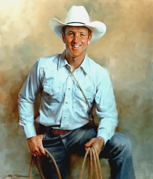 Jimmy Cooper by John Howard Sanden, oil on canvas, 40 x 34.
