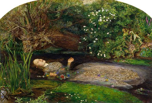 Ophelia by John Everett Millais, 1851, oil on canvas.