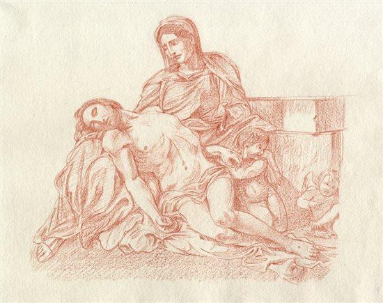 Sketch after Annibale Carracci's Pieta.