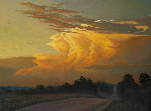 After the Deluge by John Hulsey, pastel painting.