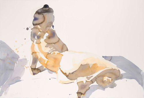 Untitled by Eric Fischl, watercolor painting, 2010.