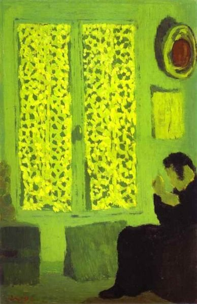 The Green Interior by Edouard Vuillard, oil painting, 1891.