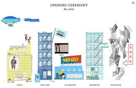 Clothing company, Opening Ceremony, uses illustration for its ad campaigns.