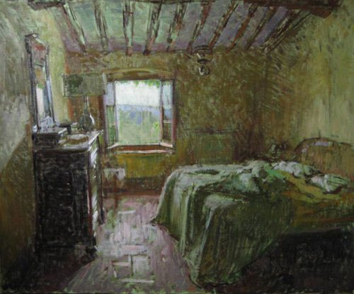 Bedroom II by Ben Fenske, oil painting, 35 x 43.
