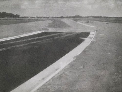 Unfinished Road by Charles Kanwischer, 2010, graphite on panel, 11 3/4 x 15 3/4.