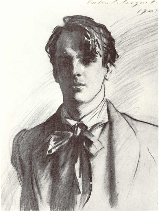 Drawing of W.B. Yeats by John Singer Sargent
