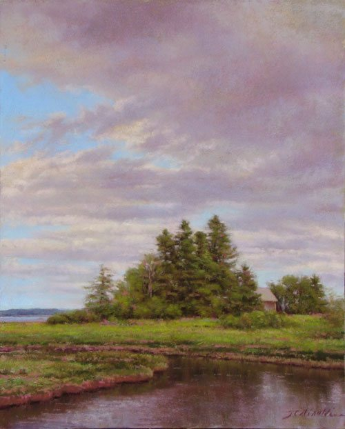 Down East Reflections by JC Airoldi. Airoldi is one of the professional artists who shares advice on painting in the upcoming American Artist special issue, The Complete Painter's Handbook.