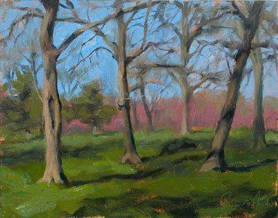 Jeffrey Smith, oil on canvas, plein air painting