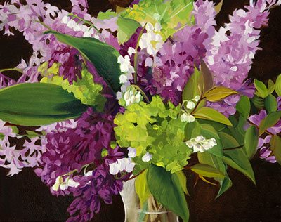 Lilac Bouquet by Ann Trusty, oil painting, 11 x 14.