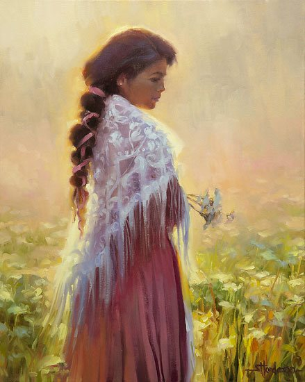 We don't have to look gentle and patient to exhibit some of these characteristics. Queen Anne's Lace by Steve Henderson.