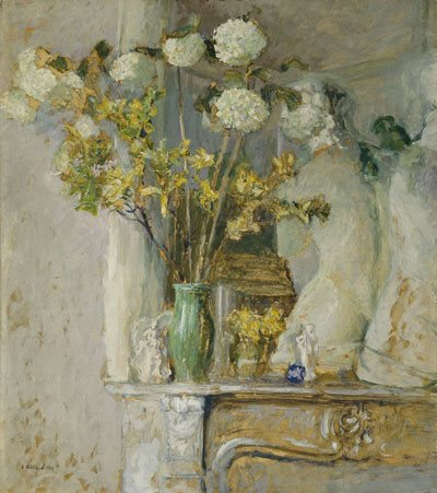 A quietly colored still life by Vuillard.