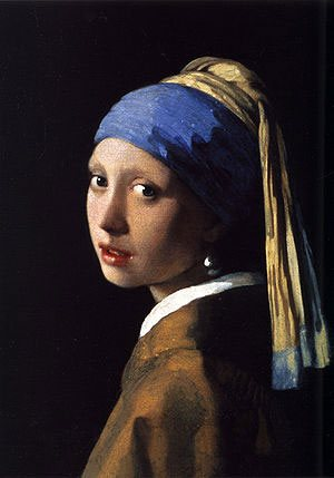 Girl with a Pearl Earring by Johannes Vermeer, oil painting, 1667, 17.5 x 15.