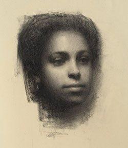A portrait drawing by Susan Lyon.