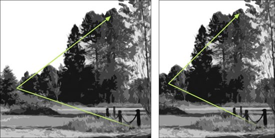 Landscape painting composition options, diagram by Mitchell Albala.