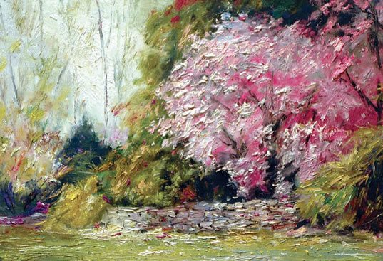 Connecticut Yankee Spring by George Gallo, 20 x 24, oil painting.
