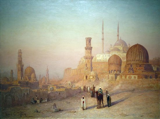 View of Cairo, ca. 1872 by Louis Tiffany, oil painting.