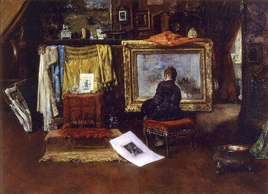 The Inner Studio, Tenth Street by William Merritt Chase, 1882.