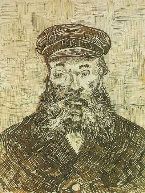 Portrait of the Postman Joseph Roulin by Vincent Van Gogh, 1888.