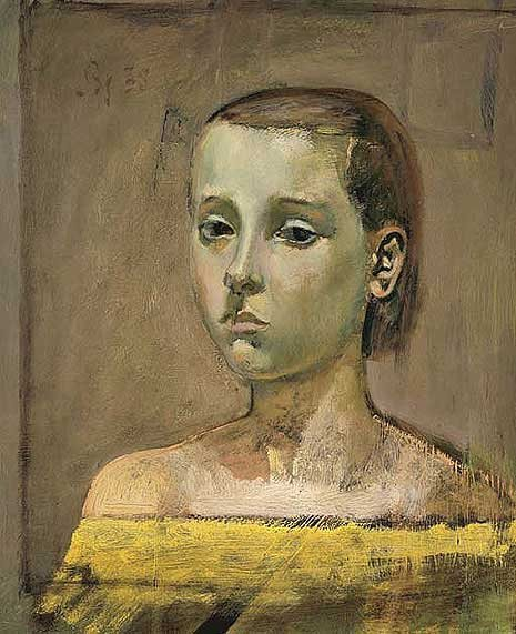 Portrait de Therese by Balthus, oil painting, 1939.