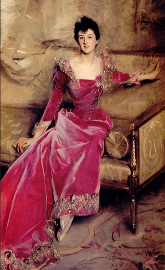 Violet Hammersley by Sargent, oil painting portrait.