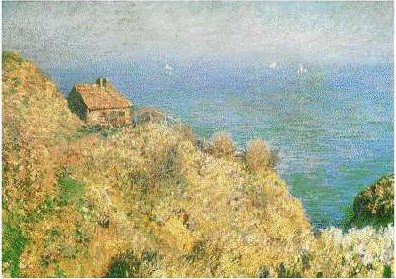 La Maison du Pecheur, Varengeville by Claude Monet, oil painting, 1882.
