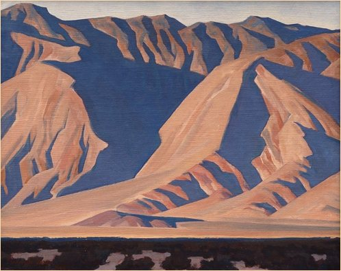 Inyo Mountains by Maynard Dixon, 1922, oil painting