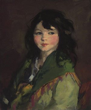 """An artist's job is to surprise himself. Use all means possible."" -- Robert Henri. Henri's painting, Francine, above."