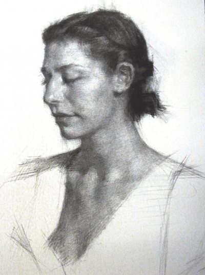Thompson (demo drawing, above) believes learning to draw people is all about an interaction that you are making together with the model.