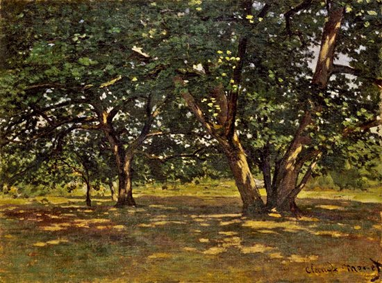 Fontainebleau Forest by Claude Monet, 1865.