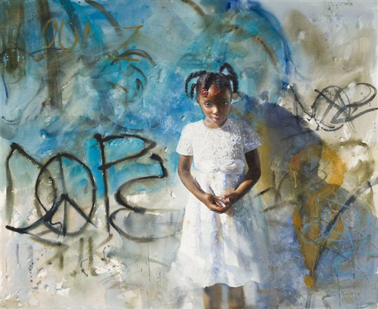 Graffiti by Mary Whyte, watercolor painting.